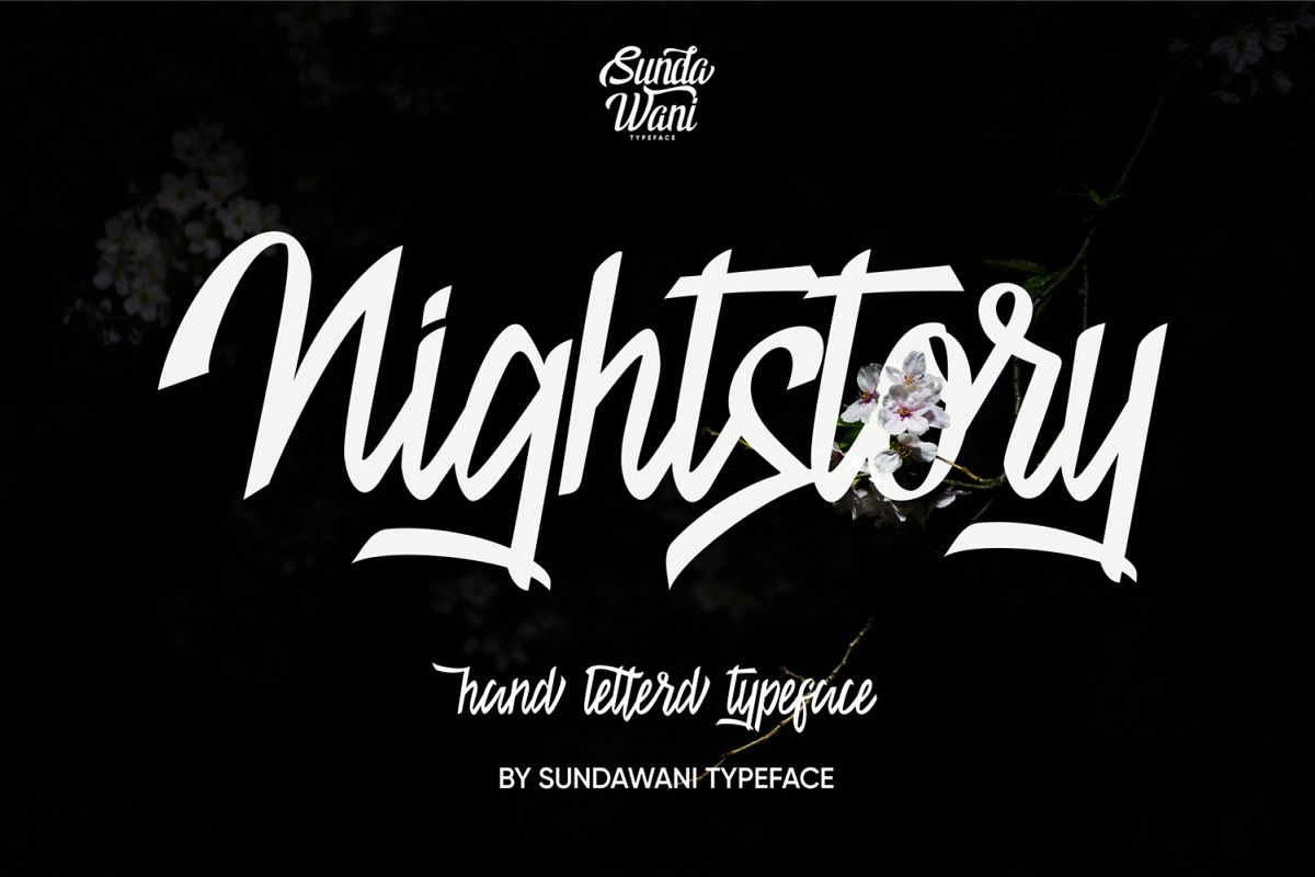 Nightstory Typeface 40% 0ff example image 1