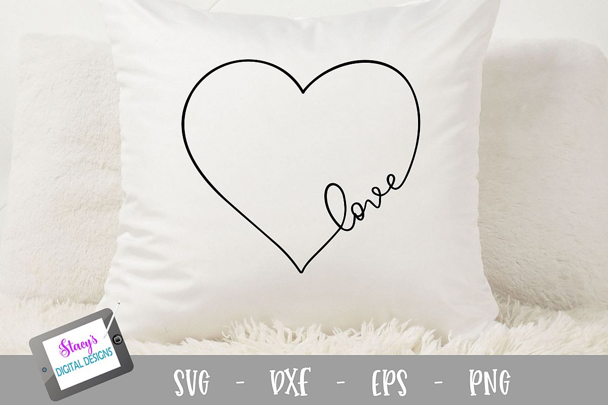 Love SVG in a heart - Valentine SVG, handlettered example image 1