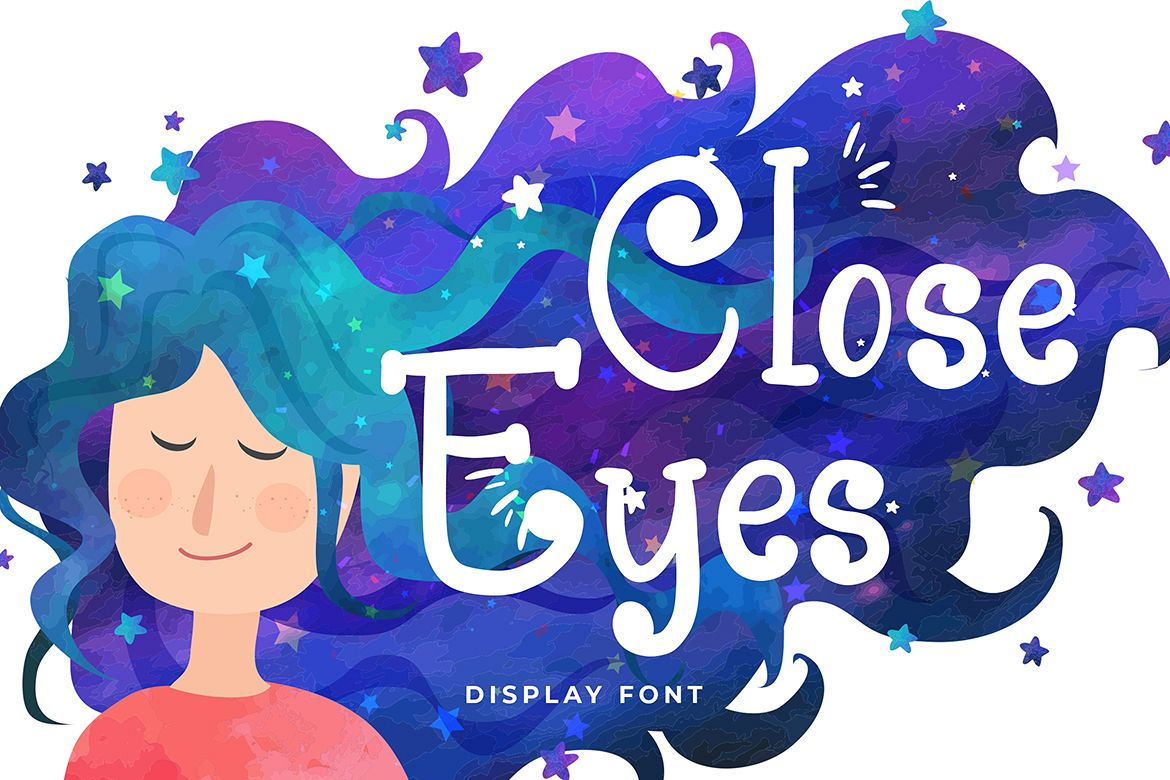 Close Eyes Playful Display Font example image 1