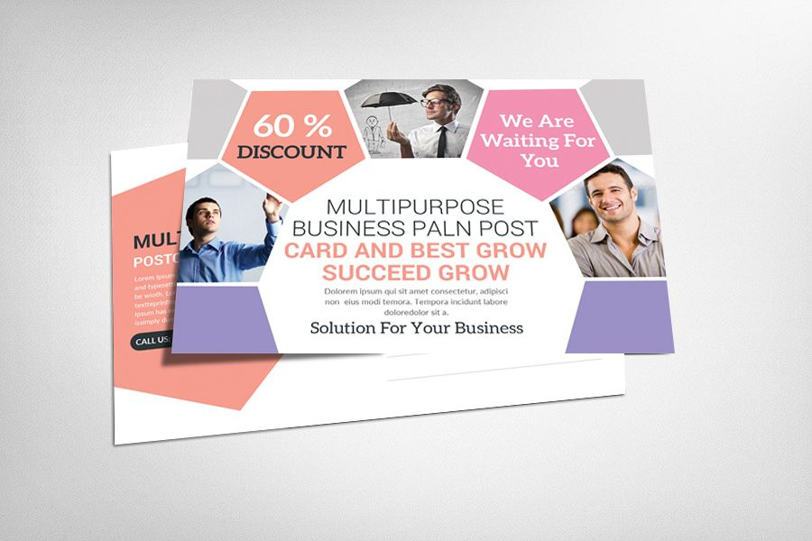 Multiuse Clean Corporate Postcard example image 1