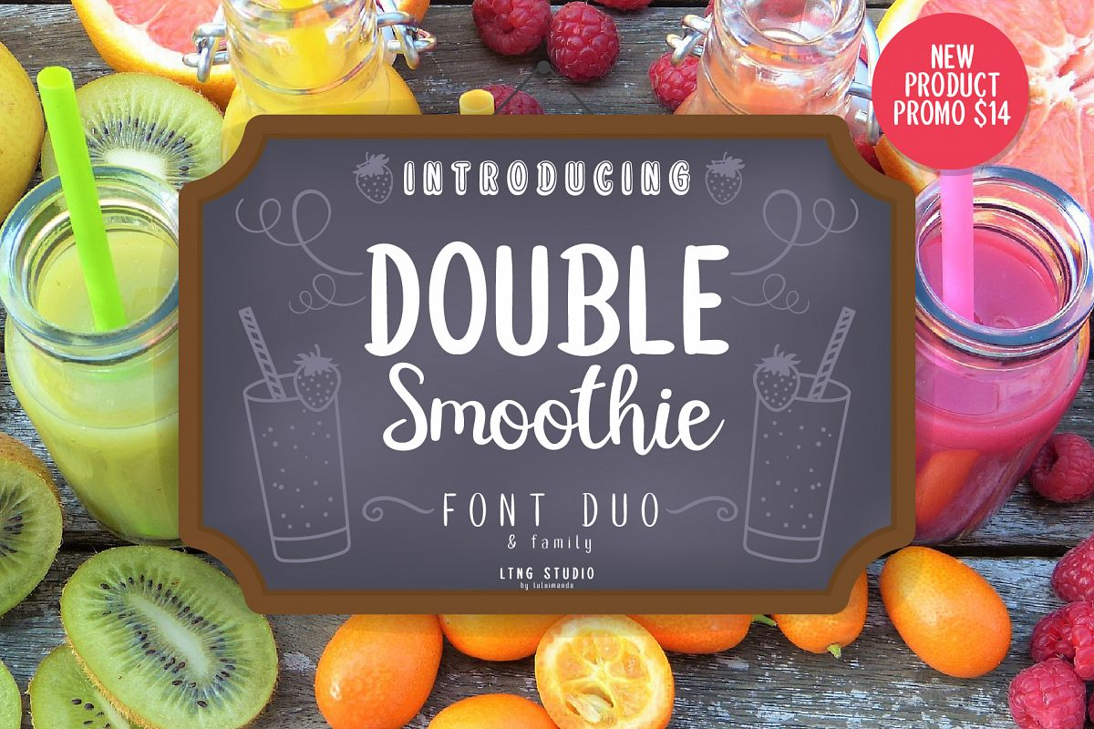 Double Smoothie Font Duo and Family example image 1