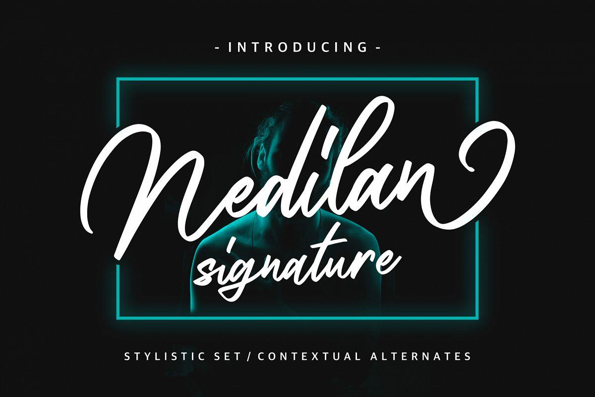 Nedilan - Signature Nedilan - Signature by BRTL in Fonts De example image 1