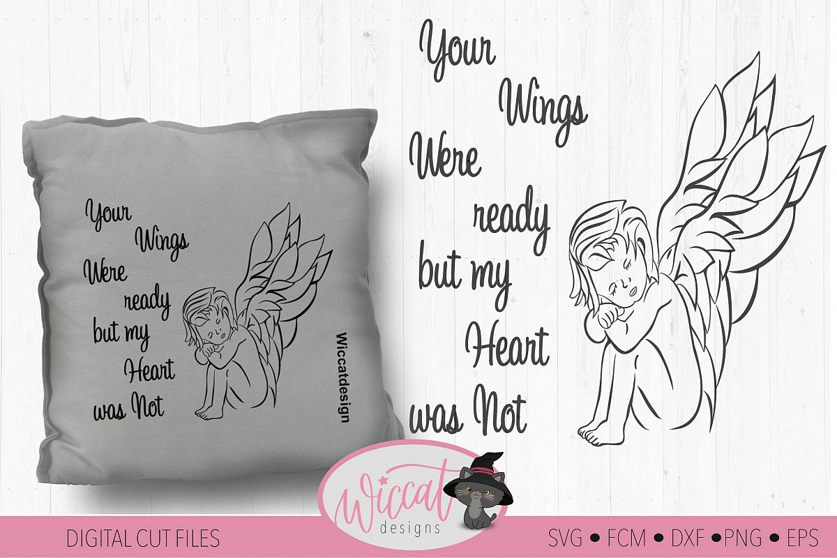 Angel svg, baby angel svg,, fcm file, scanncut ,wings svg example image 1