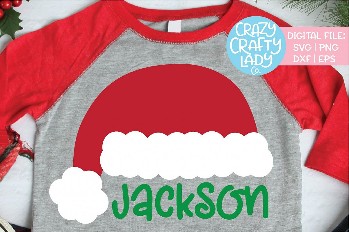 Santa Claus Hat Christmas SVG DXF EPS PNG Cut File example image 1