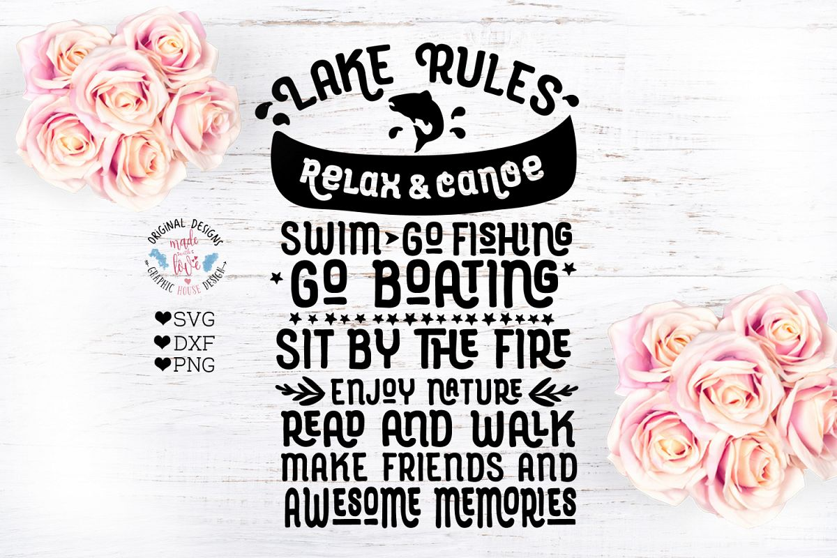 Lake Rules Cut File example image 1