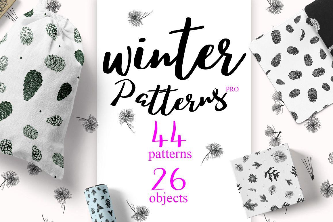 44 Winter patterns set example image 1