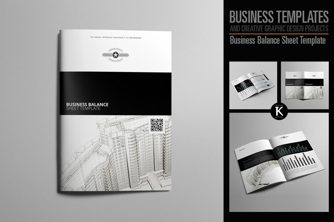 Business Balance Sheet Template example image 1