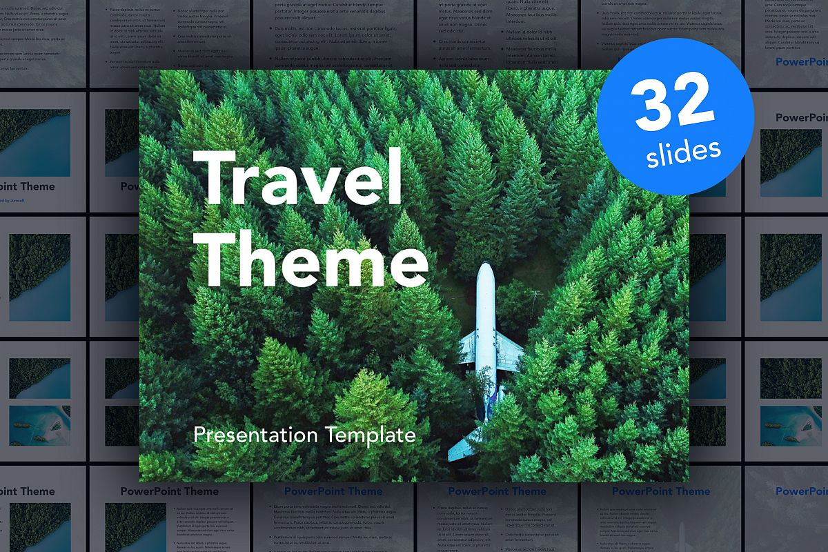 Avid Traveler PowerPoint Template example image 1