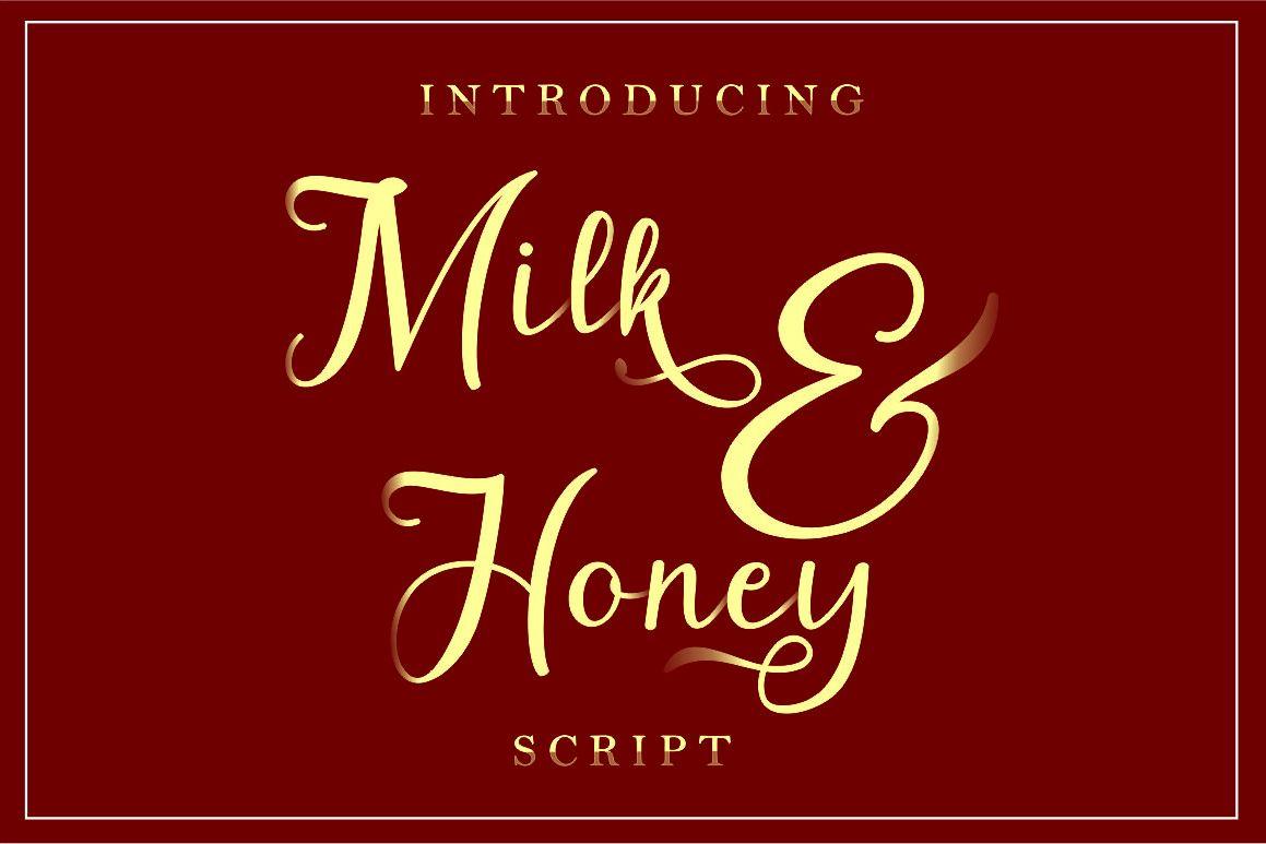 Milk&Honey // script handwritten example image 1