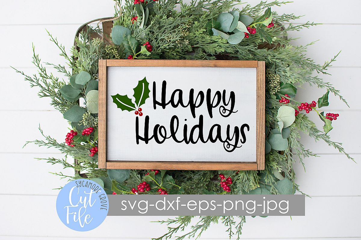 Happy Holidays SVG example image 1