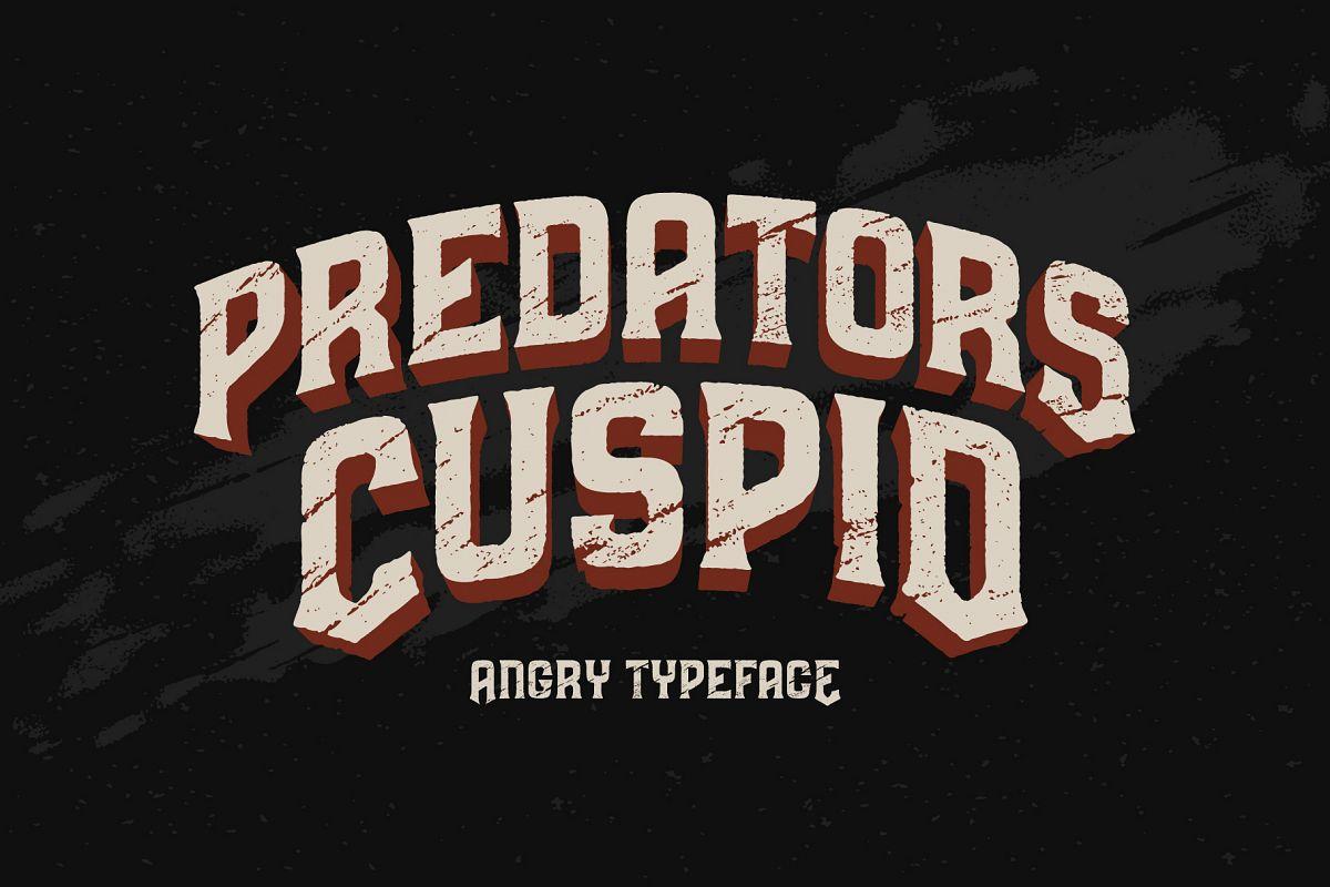 Predators Cuspid font example image 1