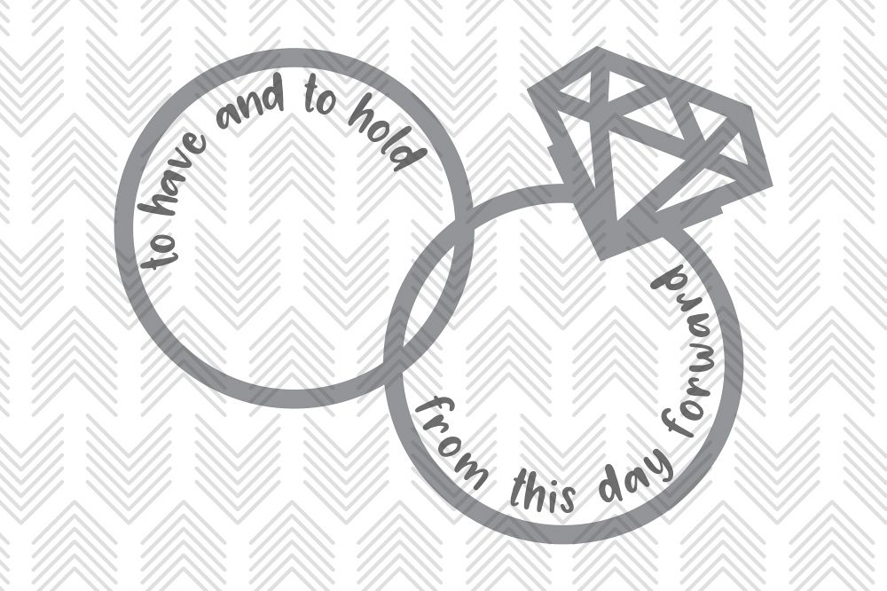 Wedding Vow Rings - SVG, AI, EPS, PDF, DXF & PNG FILES example image 1