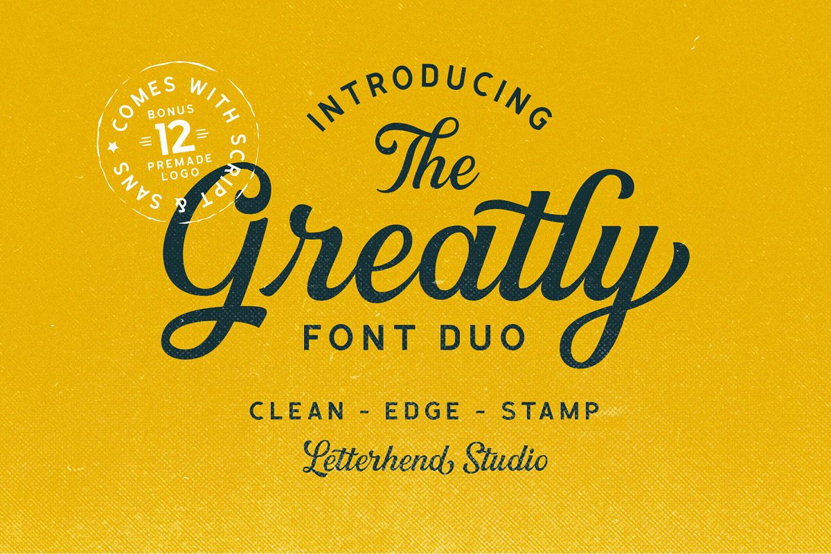 Greatly Font Duo & Logo Templates example image 1