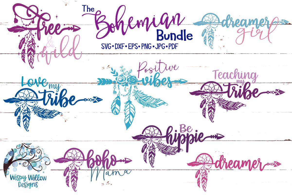 The Bohemian Bundle| Boho Feather SVG Cut Files Bundle example image 1