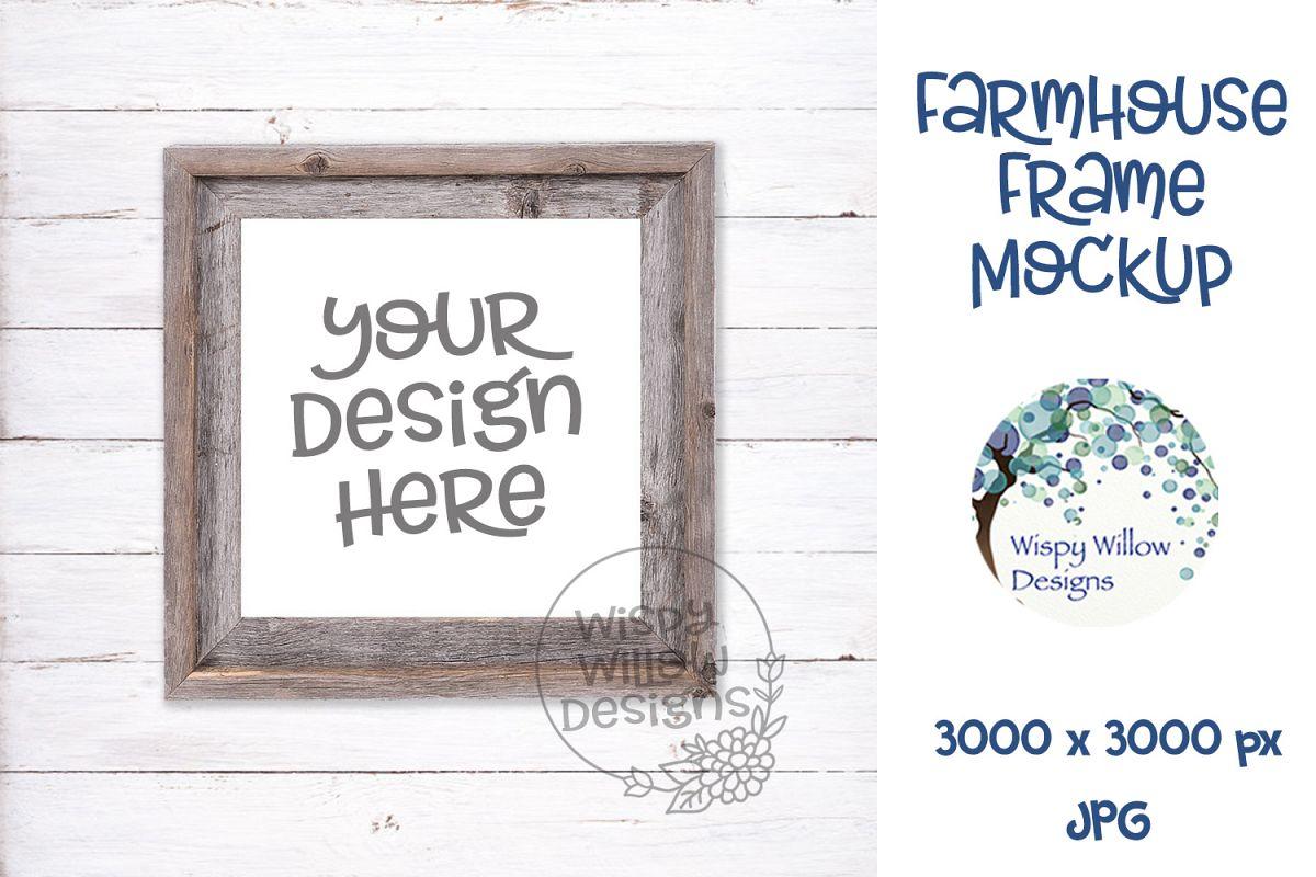 Square Farmhouse Photo Frame Mockup example image 1