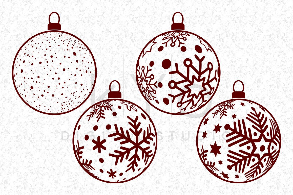 christmas tree snowflake balls christmas balls christmas svg files cor cricut christmas 3d