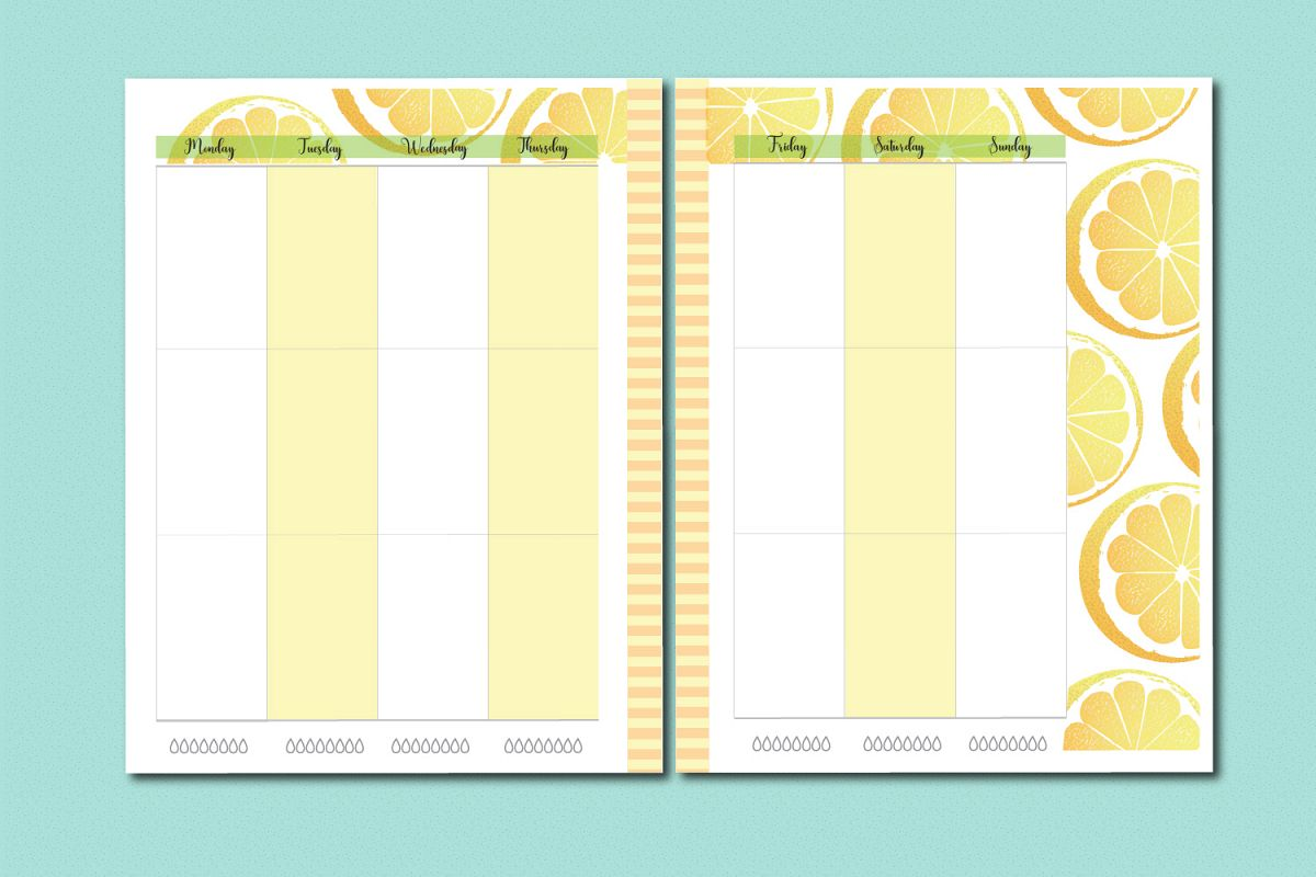picture about Hp Printable referred to as Lemon Planner Printable Package, A4, Letter and clic HP