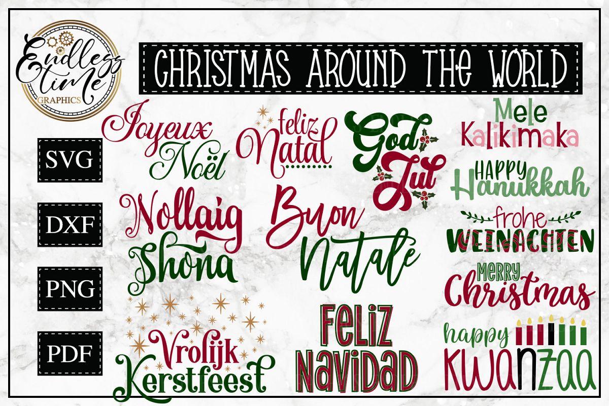 Christmas Around the World - A Christmas SVG Bundle example image 1