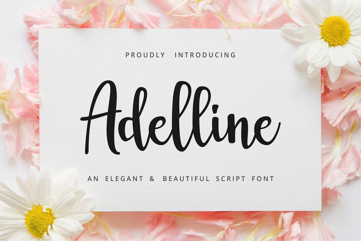 Adelline | beautiful elegant font example image 1