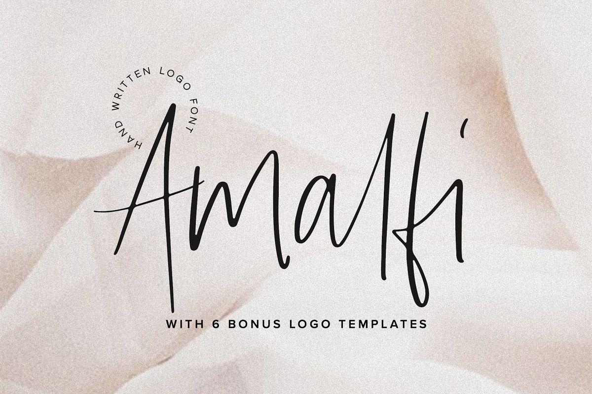 Amaro | Script 6 Free Logos example image 1