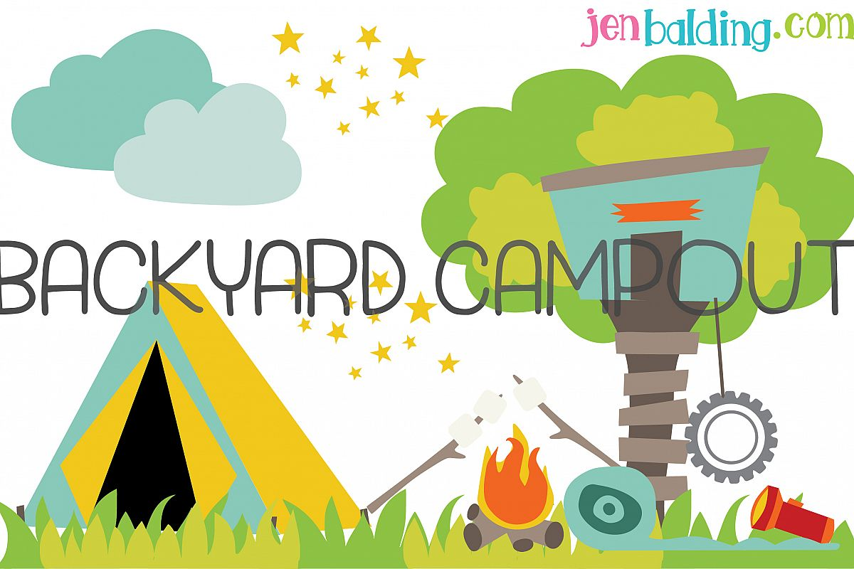 Backyard Camp Out Illustration example image 1