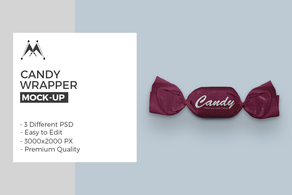 Candy Wrapper Mock-Ups Set example image 1