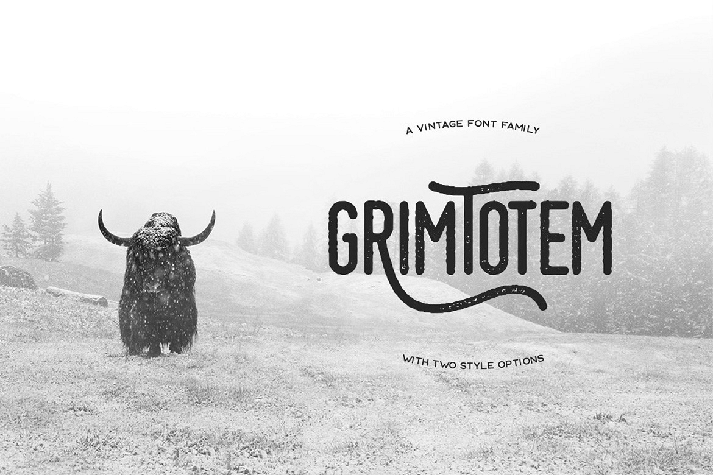 Grimtotem Typeface example image 1