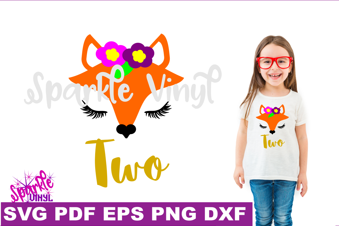 Svg Woodland Fox Face nursery shirt sign second birthday two party svg files for Cricut or Silhouette printable DIY party favors and invites example image 1