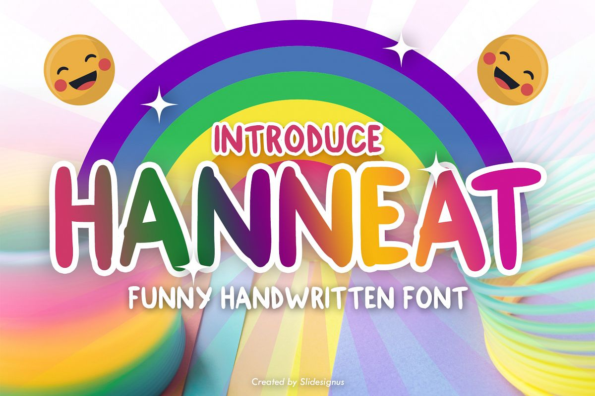 Hanneat Funny Font example image 1