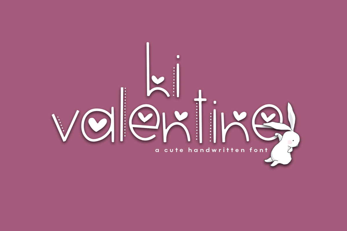 Hi Valentine - A Valentine's Day Font example image 1