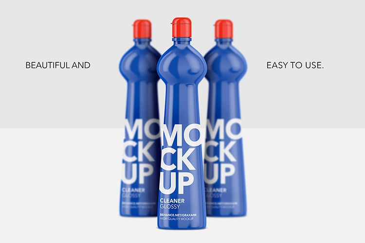 Cleaner Bottle - Glossy - Front View example image 1