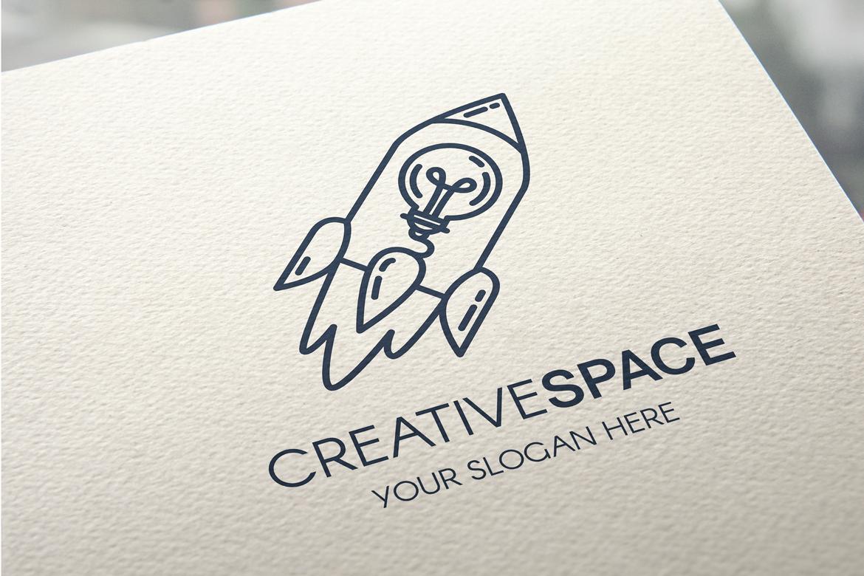 Creative Idea With Rocket Logo example image 1