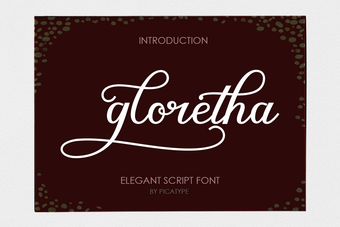Gloretha Script example image 1