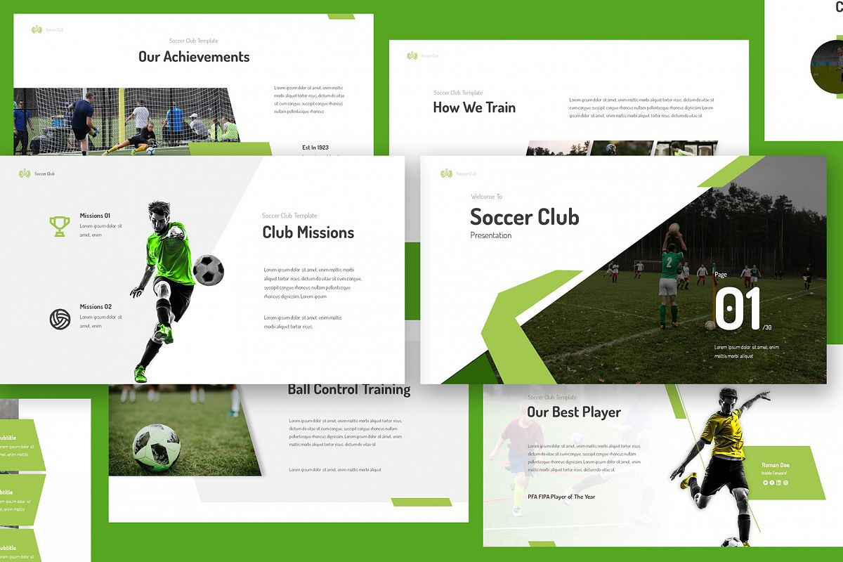 Soccer Club Keynote Presentation example image 1