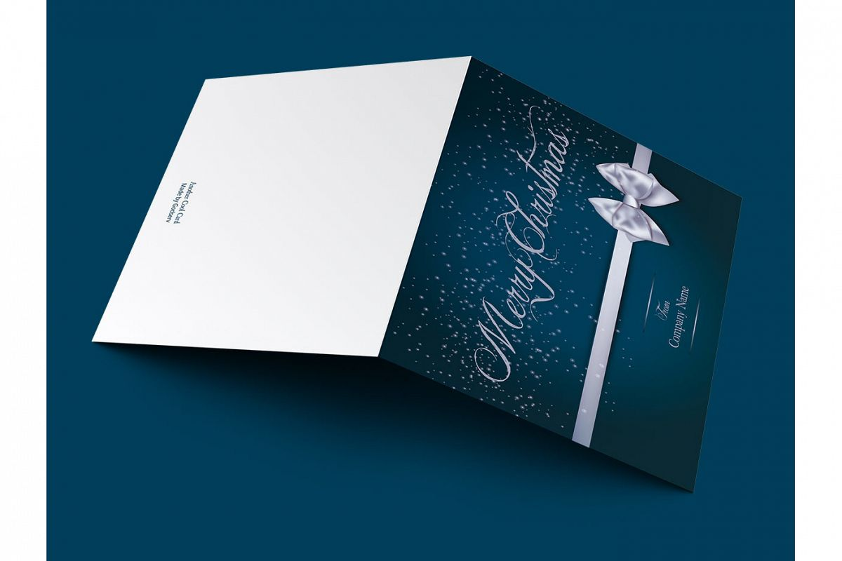 Blue merry christmas greeting card template m4hsunfo