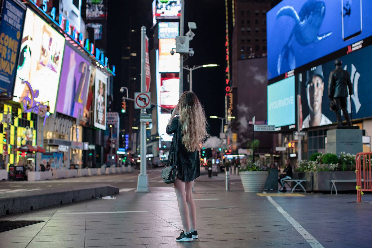 Women on the time square example image 1