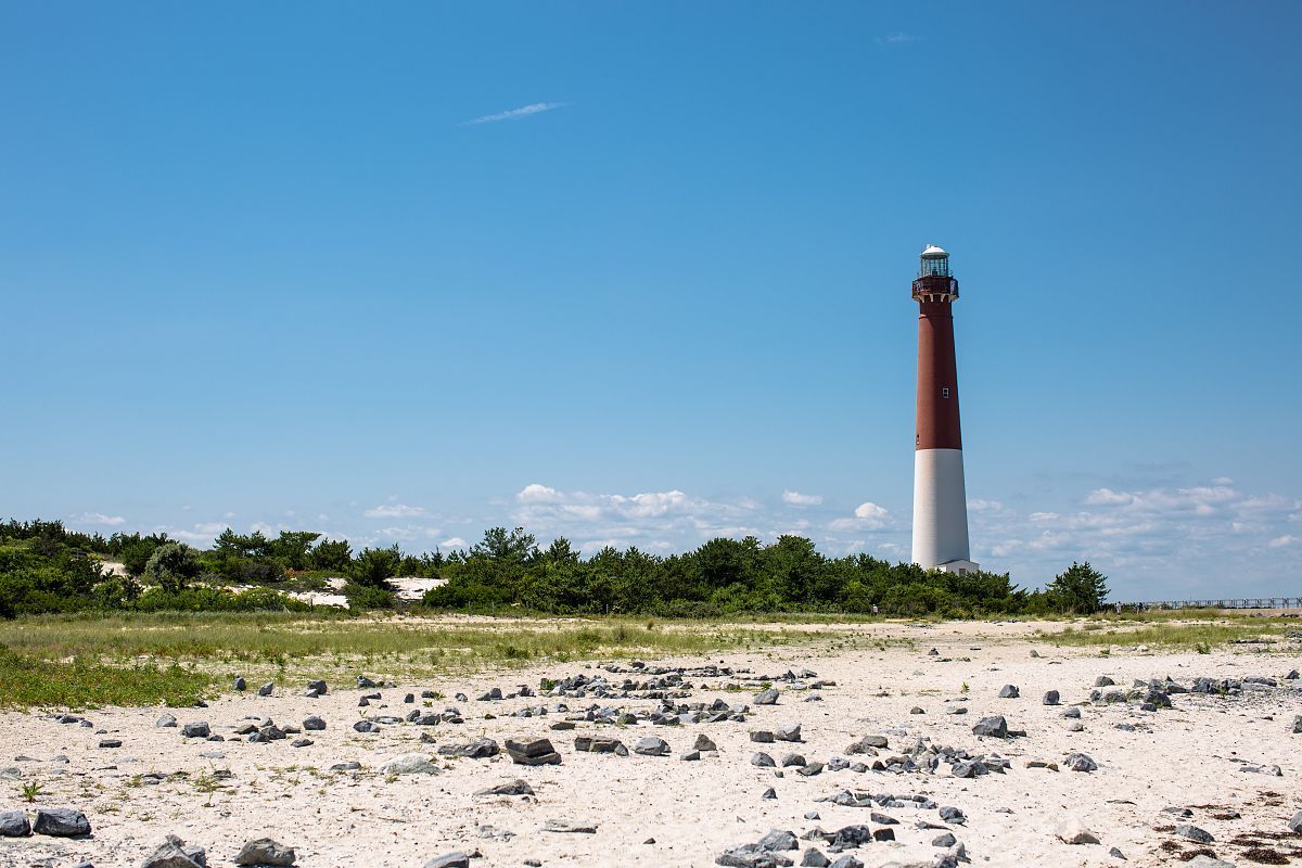Lighthouse on sunny day example image 1
