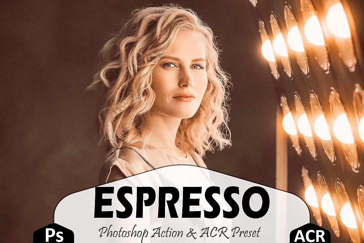 Espresso Photoshop Actions And ACR Presets, Brown Ps preset