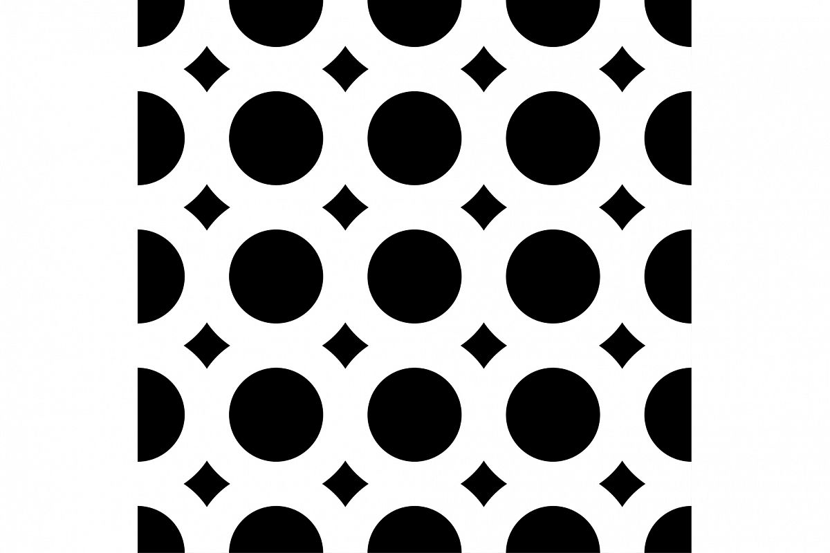 Seamless vector decorative background with rings. Print. Cloth design, wallpaper. example image 1