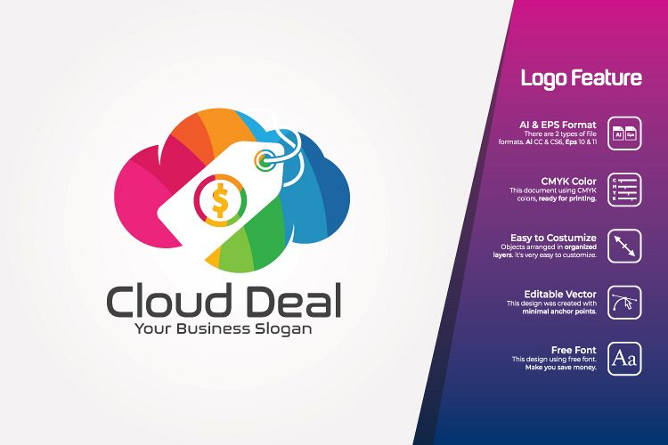 Cloud Store Logo Template example image 1