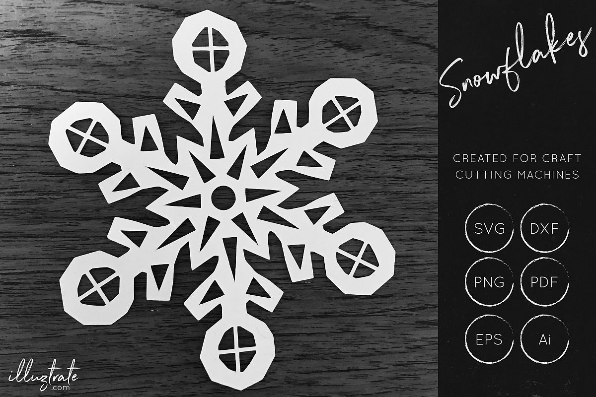 Snowflake SVG Cut File - Christmas SVG - Snowflakes example image 1