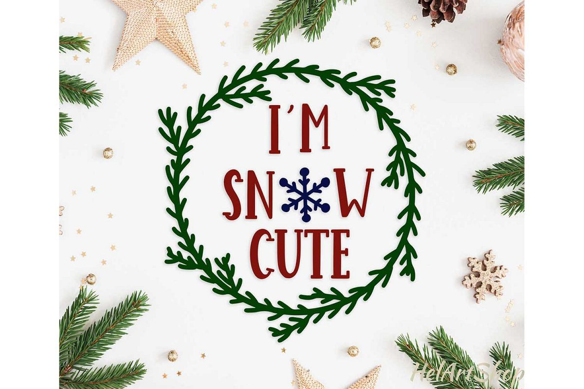 I'm snow Cute baby onesie design svg cutting file example image 1