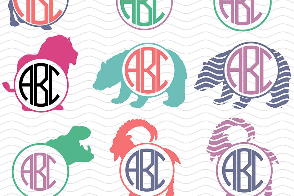 Wild Animals Monograms Svg example image 1