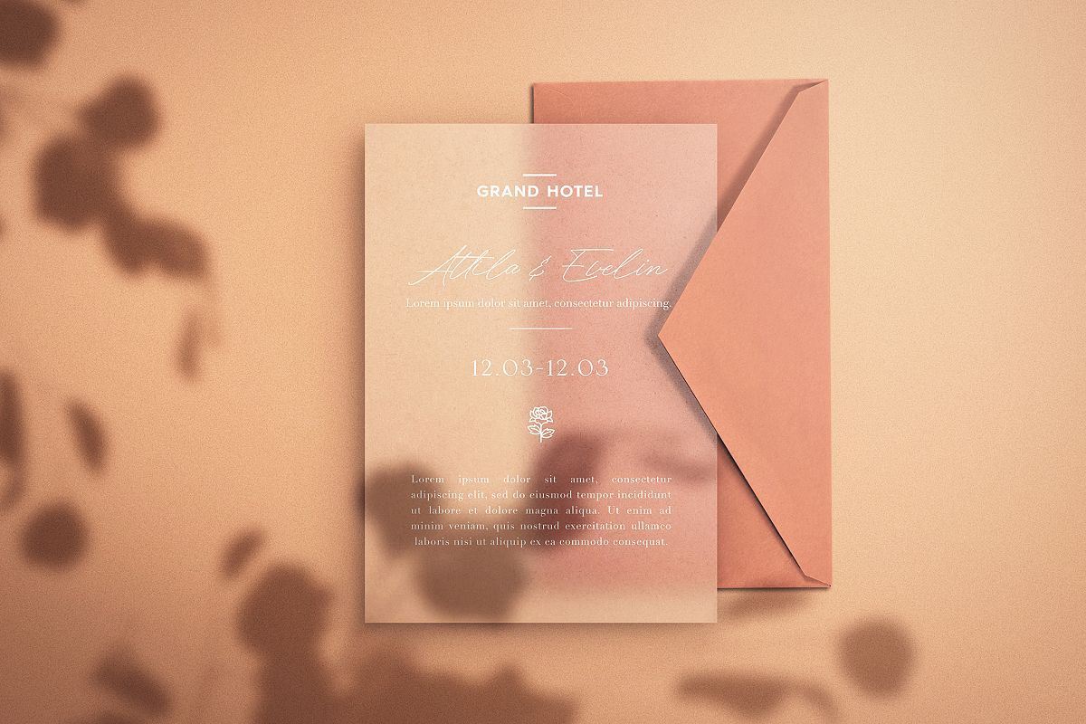 Save the Date - Paper Mockup example image 1