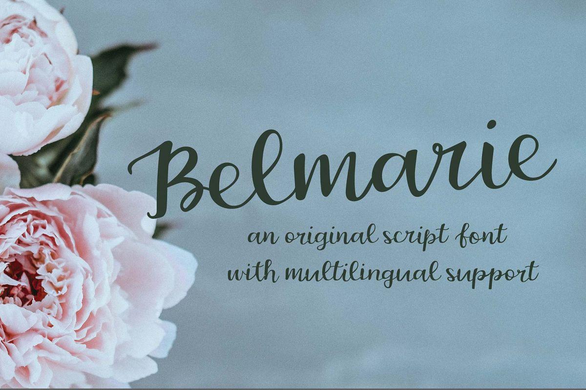Belmarie Script example image 1