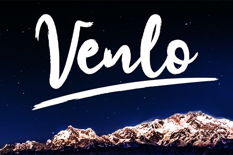 Venlo Brush Font example image 1