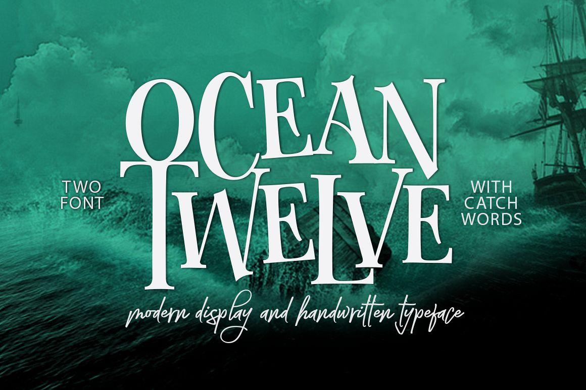 Ocean Twelve Font Duo + Extras example image 1
