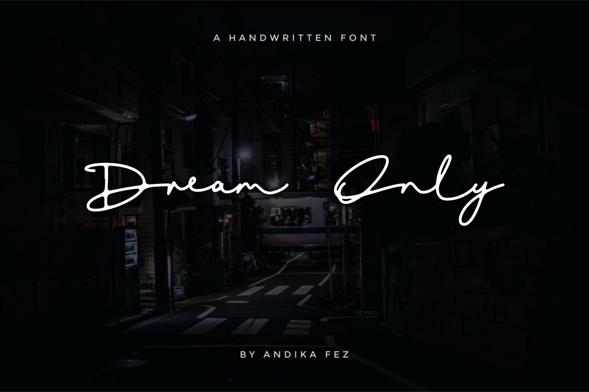 Dream Only | Handwritten Font example image 1