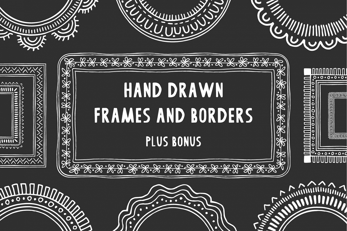 Hand drawn frames & borders example image 1