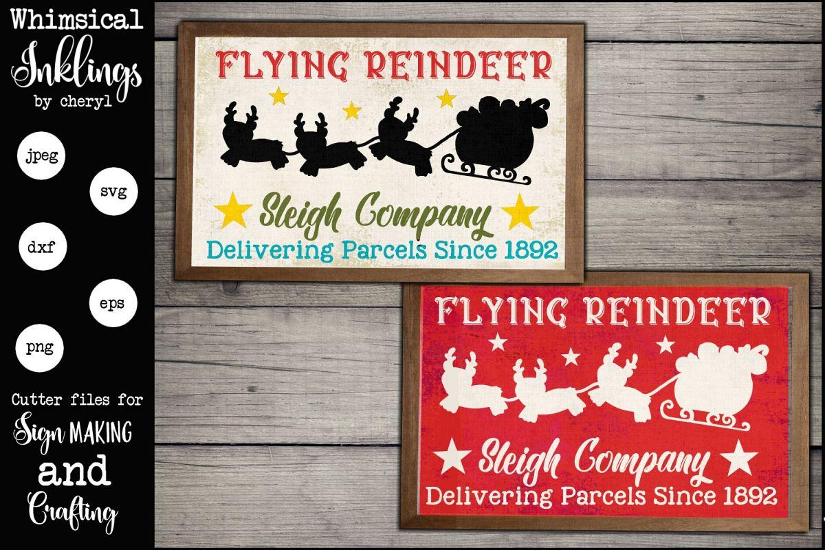 Flying Reindeer SVG example image 1
